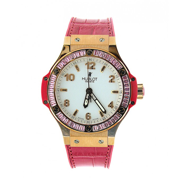 Hublot Big Bang Tutti Frutti White Dial Pink Alligator Strap Watch