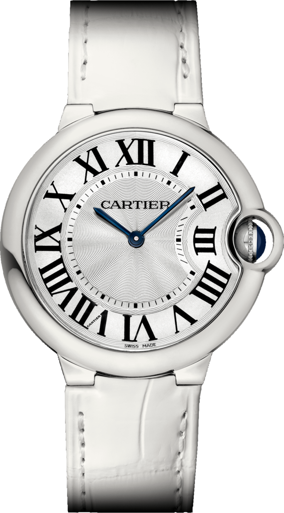 UK Cartier Ballon Bleu de White Strap Copy Watches