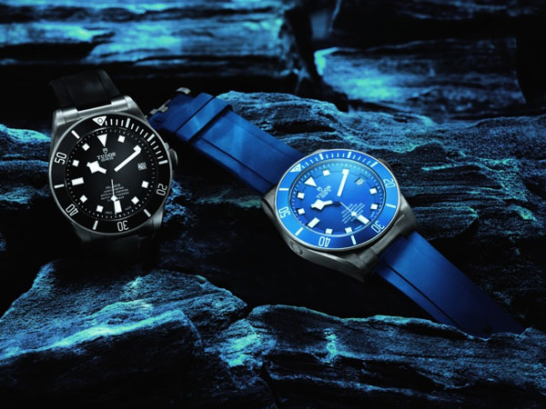 black bezel and blue dial copy TUDOR Pelagos