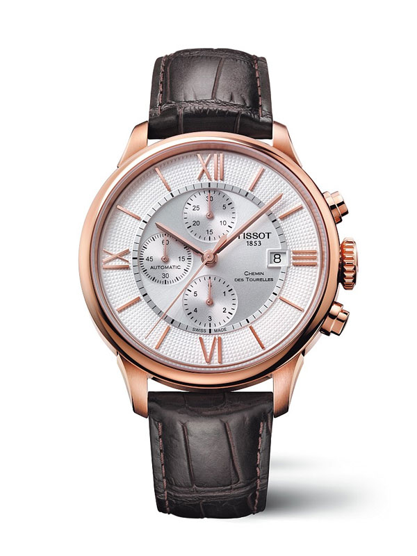 rose gold case fake TISSOT Chemin des Tourelles