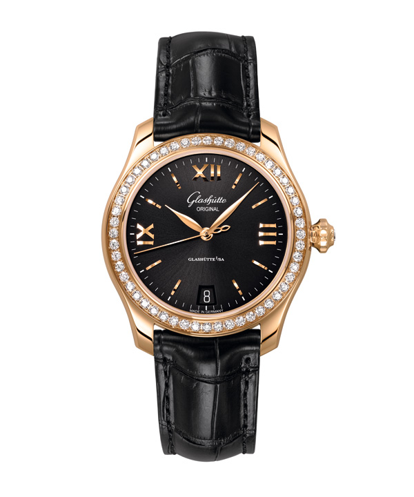 black dial copy Glashütte Original Lady Serenade