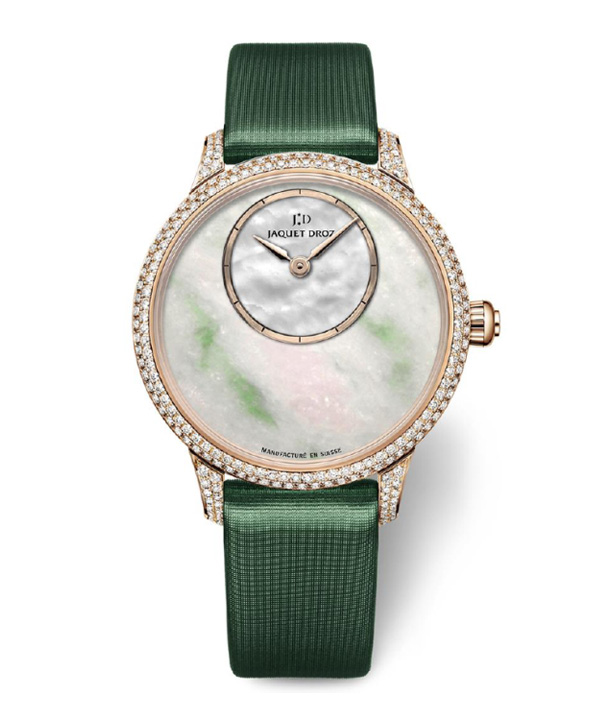 diamond bezel fake Jaquet Droz Jadeite 35mm