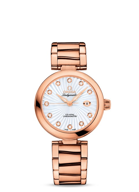 rose gold case fake Omega De Ville Ladymatic