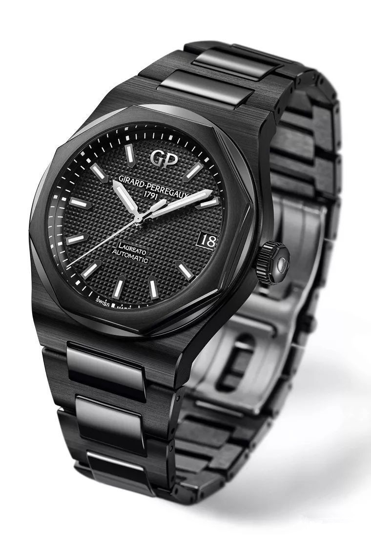 Whole black appearance makes this male replica watch cool.