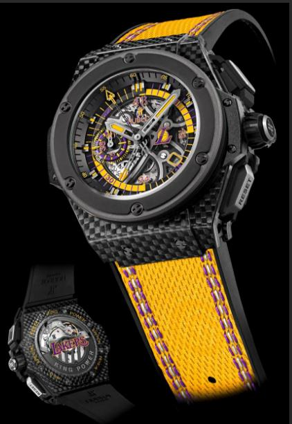 The skeleton dials copy watches have yellow leather straps.