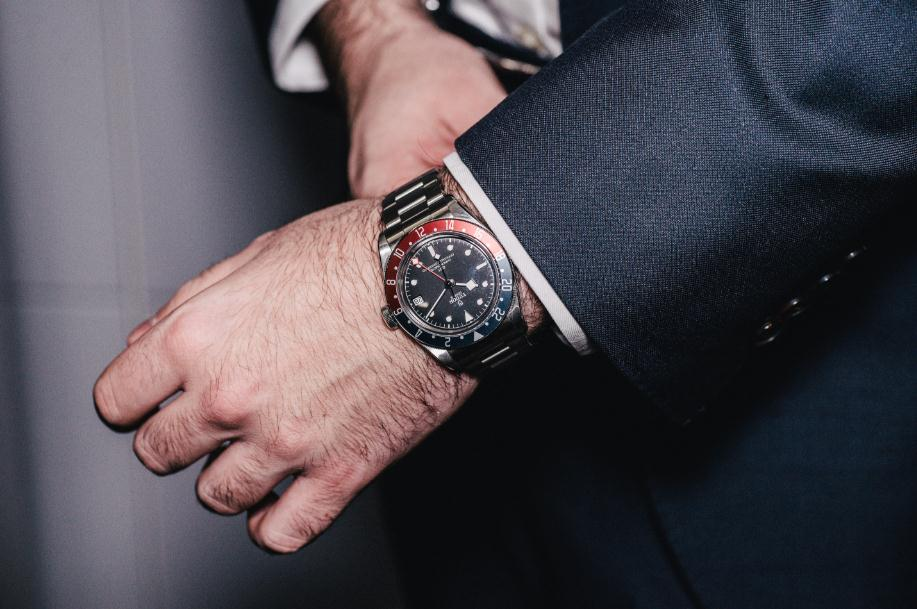 The 41 mm fake watches are made from stainless steel.