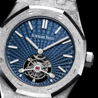 The blue dials copy watches have tourbillons.