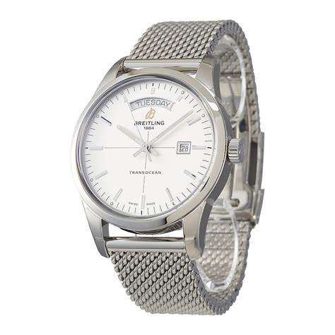 The stainless steel copy watches are designed for men.